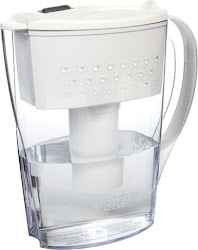 Brita Space Saver Water Filter Pitcher - White