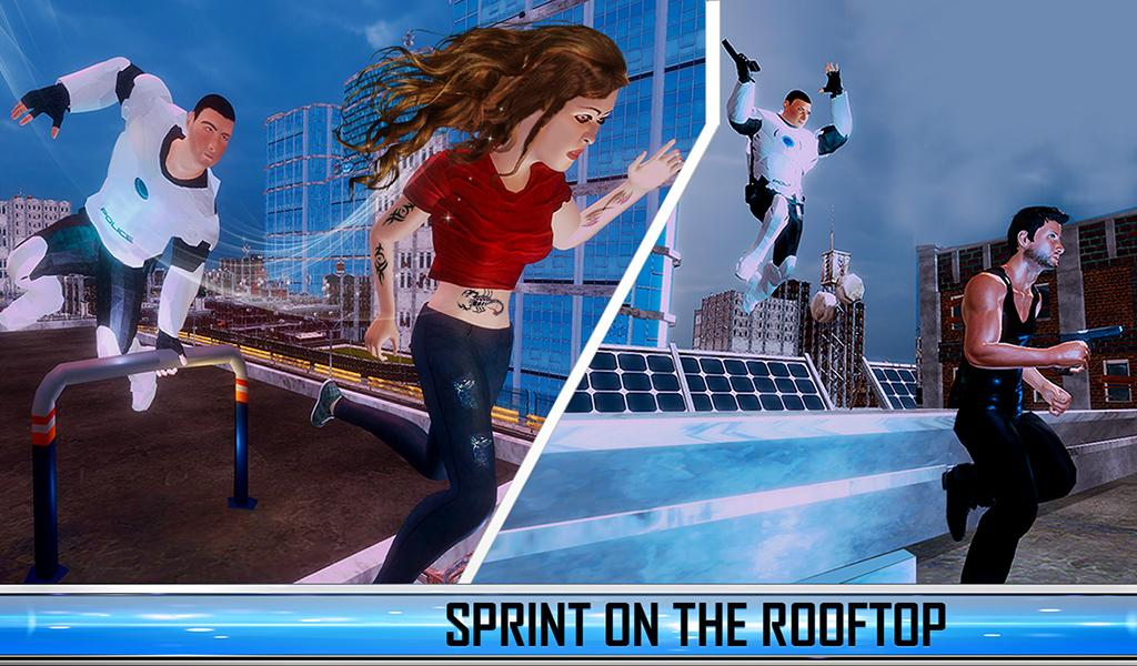 Mad City Rooftop Police Squad: Real Gangster Chase- screenshot