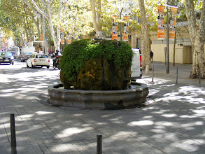 "Photo: Next is La Fontaine d'Eau Thermale (warm water) from 1734, and an outlet for the naturally heated water used here in spas since Roman days. It's also called the ""mossy fountain,"" for obvious reasons."