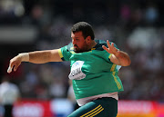Orazio Cremona of South Africa in the qualification round of the mens shot put during day 2 of the 16th IAAF World Athletics Championships 2017 at The Stadium, Queen Elizabeth Olympic Park. File photo