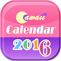 Cawaii Calendar 2016 icon