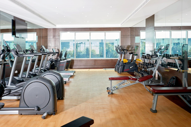 Gym at Al Barsha apartment