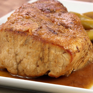 Slow Cooker Pork Tenderloin with Apples.
