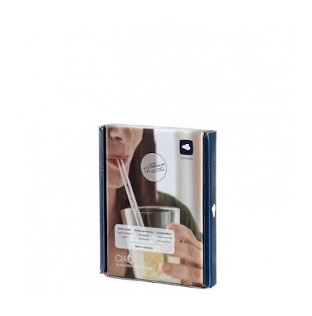 CIAO Sugrör Glas 15cm 12-pack