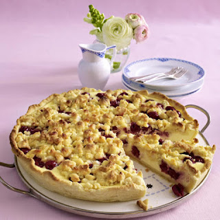 Cherry Cheesecake with Macadamia Nut Crumble