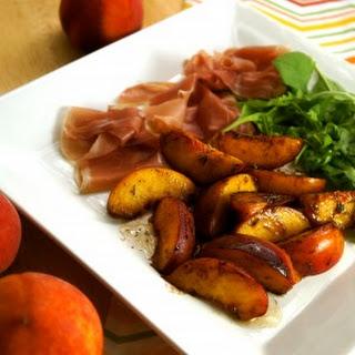 Warm Peach and Prosciutto Salad