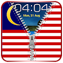 Malaysian Flag Zipper Lock icon