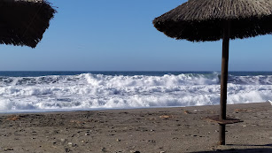 Oleaje en la Bahía de Almería.