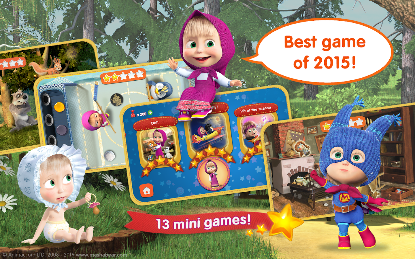 Screenshots of Masha and the Bear: Kids Games for iPhone