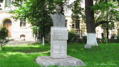 """Photo: Bustul lui Teodor Murasanu si """"Stejarul Unirii"""" - (2013.10.29)"""