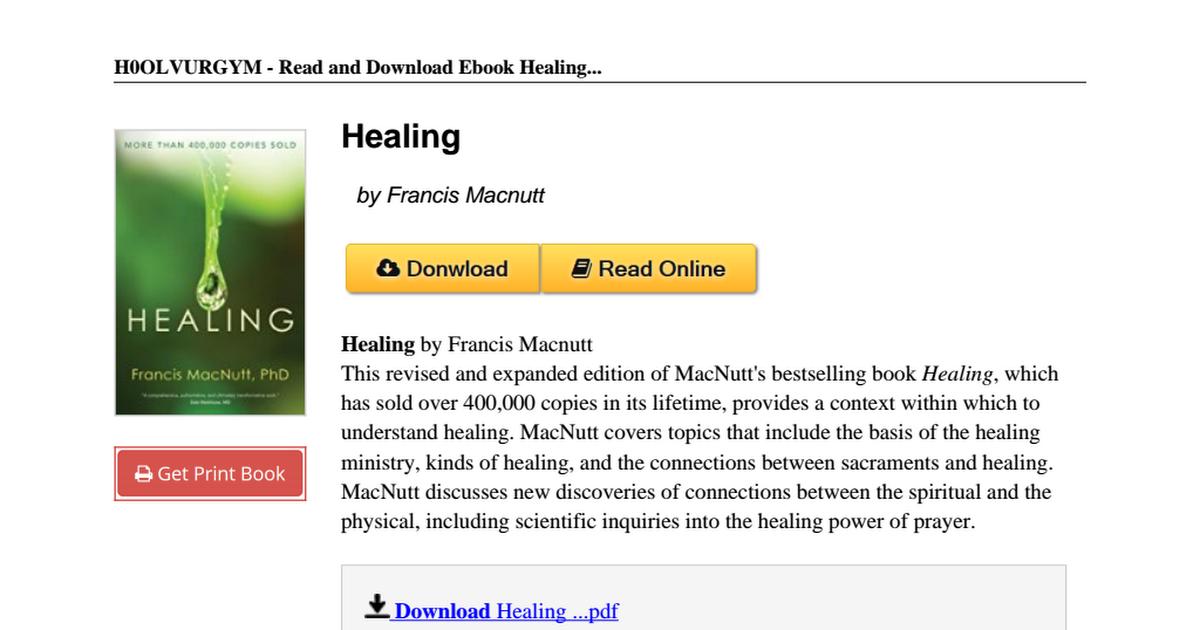 Healing-Francis-Macnutt-0877936765 pdf - Google Drive