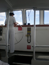 Photo: driving the ferry back across the water