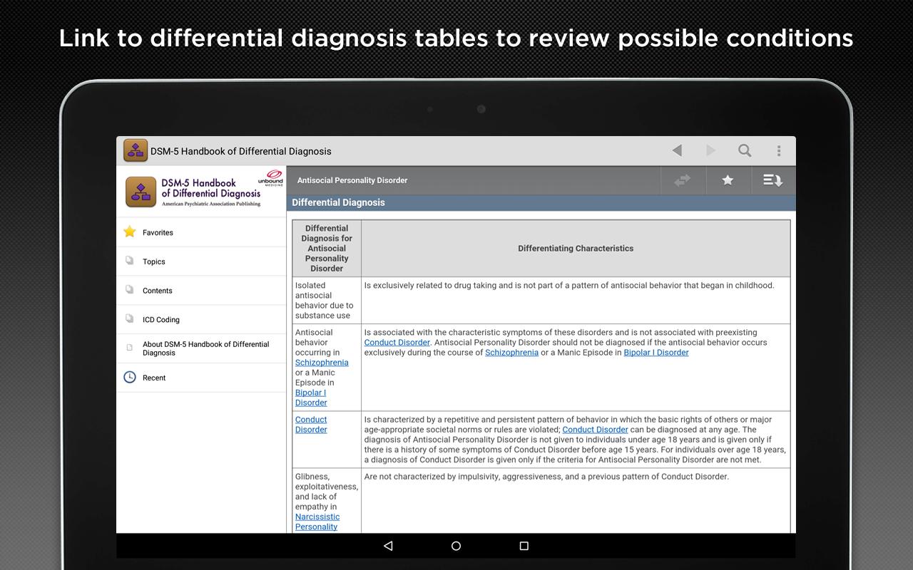 handbook of differential diagnosis dsm 5 pdf