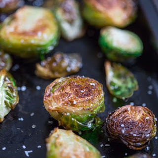 Brown Butter Roasted Brussels Sprouts.