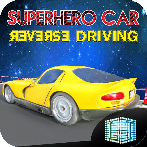 Superheroes Car Reverse Driving – Wrong Way Race (game)