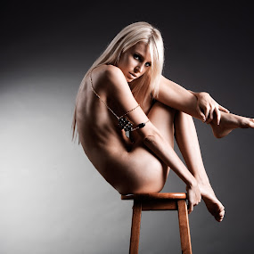 Implied nude by Ben Heys - Nudes & Boudoir Artistic Nude ( studio, body, model, fashion, person, nude, blond, undress, beauty, long, pretty, skin, glamor, erotic, glamour, fit, sexy, slim, figure, girl, jewellery, attractive, woman, implied, bare, hair, topless, elegance, beautiful, stool, adult, young, portrait, sensual, chair, blonde, sitting, female, naked, elegant, healthy, thin )