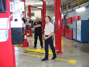 Photo: Touring the new Transportation Center.