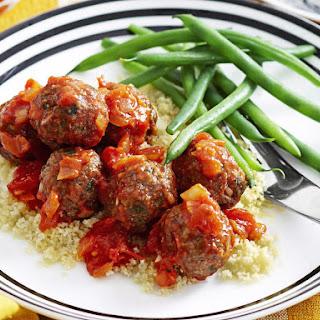 Spicy Lamb Meatballs in Tomato Sauce.