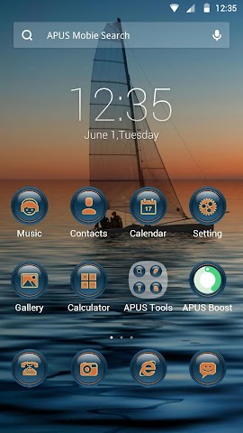 android The Sunset theme for APUS Screenshot 0