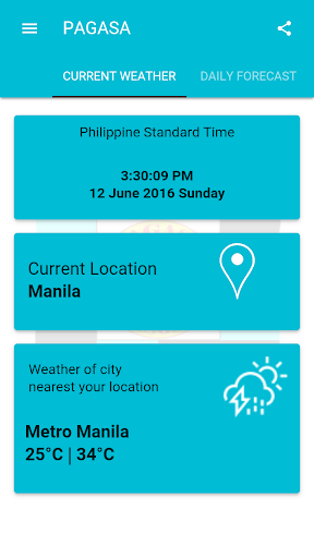 DOST PAGASA Mobile App