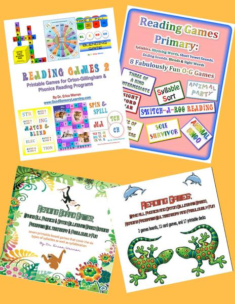 Reading Games Bundle Digital Download