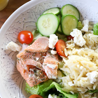 Dill Roasted Salmon Salad Kit.