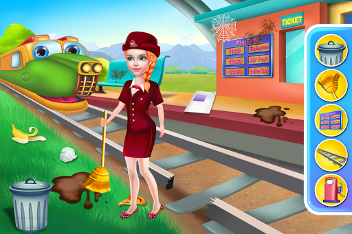 Télécharger gratuit Train Station Simulator Game - Fun Games for Kids APK MOD 2