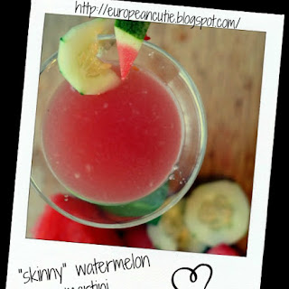 """skinny"" Watermelon Martini ♥."