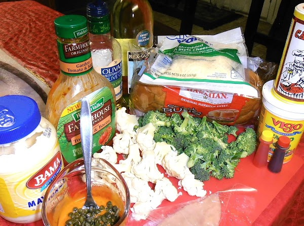 gather all your ingredients.  combine mayonnaise, tomato bacon dressing and capers in a...