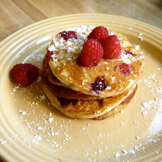 Lemon Raspberry Greek Yogurt Pancakes