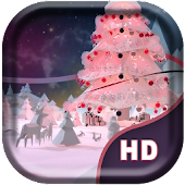 Snow Tree Live Wallaper