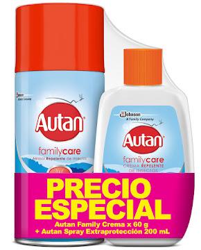 //OFT Repelente de   Insectos en Aerosol Autan x 200Ml + Crema Repelente Autan x 60Gr