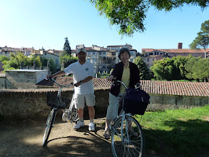 Photo: We biked for many hours around Lucca