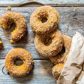 Gluten-Free Pumpkin Mini Baked Donuts.