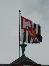 Photo: The flag of the Princely Family waving over the Castle
