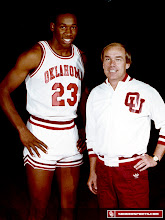 Photo: Wayman Tisdale with legendary OU coach Billy Tubbs.
