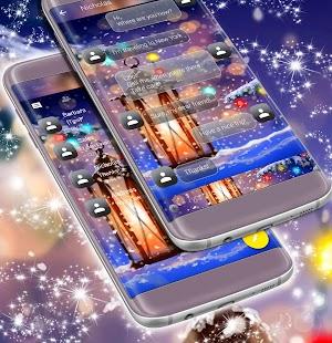 Zimní noční SMS téma - náhled