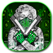 App Gun Weed Cool Lady Keyboard APK for Windows Phone