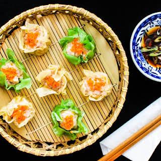 Pork and Shrimp Siu Mai (Steamed Chinese Dumplings).