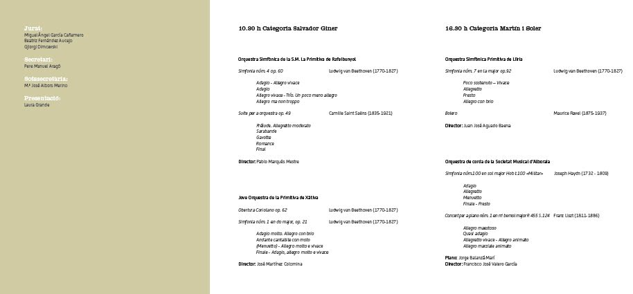 III Concurso Bankia de Orquestas de la Comunitat Valenciana