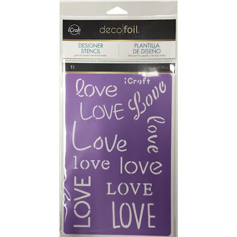 Thermoweb Deco Foil Stencils 6X9 - Love