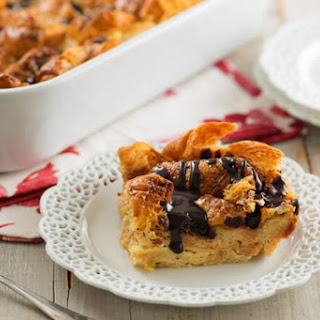 Double Chocolate Croissant Bread Pudding