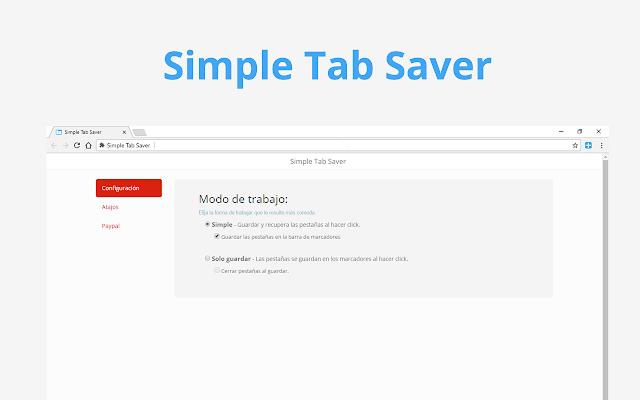 Simple Tab Saver