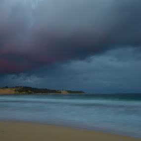 Morning Storm by Greg Rowe - Landscapes Beaches ( indijup, weather, beach, storm )