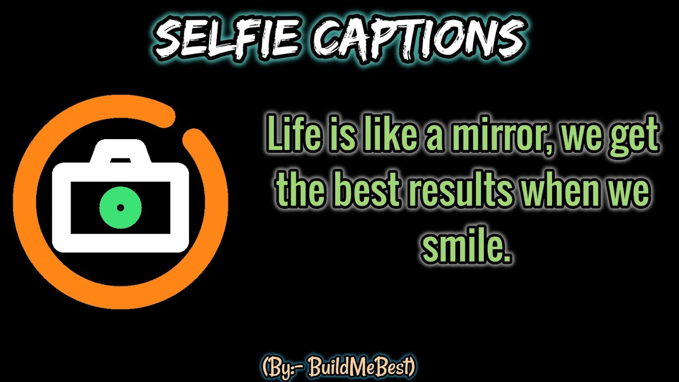 Selfie Captions in English - Best Pic Quotes 2019 – (Android