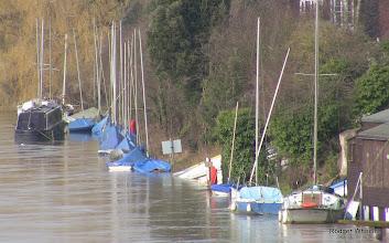 Photo: AQSC flooded moorings Sun 9 February