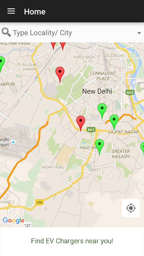 Recharge India - EV Charging points map- screenshot