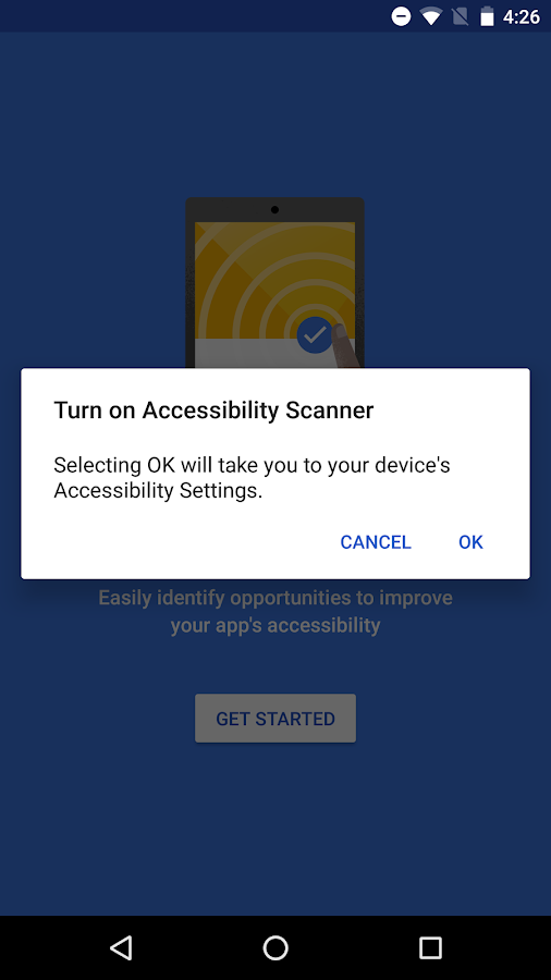 Accessibility Scanner- screenshot