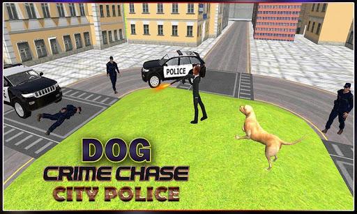 狗追逐犯罪警察城