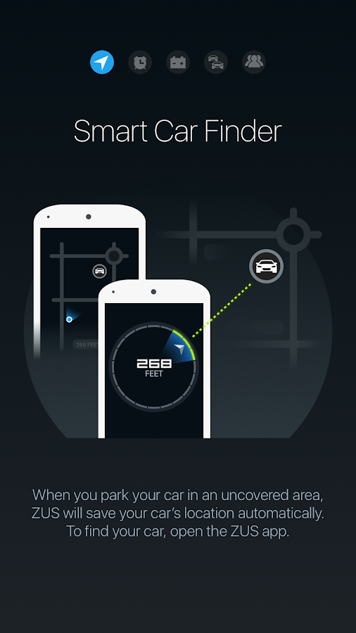ZUS - Smart Car Locator- screenshot